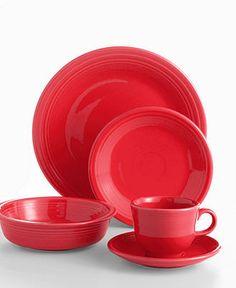 dc5f4a0638b1 Fiesta Scarlet 5-Piece Place Setting Dining   Entertaining - Dinnerware -  Macy s