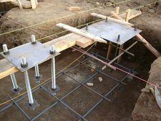 Resultado de imagen para foundation for steel column Concrete Footings, Concrete Forms, Reinforced Concrete, Steel Structure Buildings, Building Structure, Metal Buildings, Building Foundation, House Foundation, Steel Columns