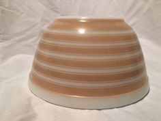 Pyrex Tan Stripes 402 by pipedreamsandpyrex on Etsy