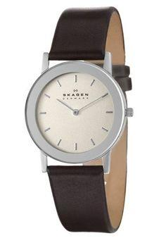 Skagen Leather Men's Quartz Watch 39LSLD Skagen. $57.00
