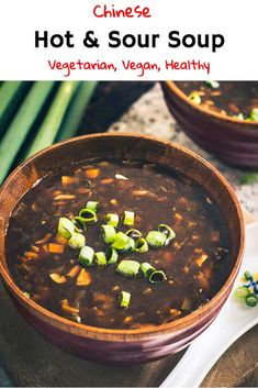 Chinese Hot and Sour Soup is a spicy, tangy accompaniment for all your meals. Suit it to your taste and eat it when its piping hot! Here is a simple homemade easy recipe to make best authentic Hot and Sour Soup. Hot And Sour Soup Recipe Vegetarian, Vegetarian Recipes, Vegan Soup, Gourmet Recipes, Soup Recipes, Cooking Recipes, Copycat Recipes, Crockpot Recipes, Recipies