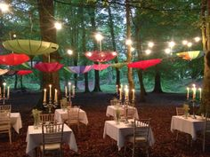 ....magical late summer evening candle lit dinner.