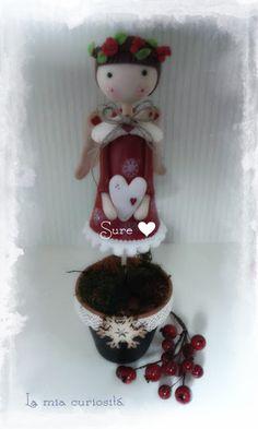 Christmas Angel. Angel de Navidad en porcelana fría