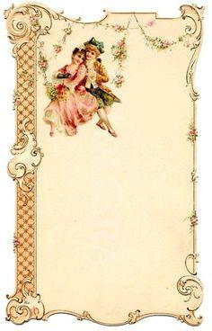papers.quenalbertini: Vintage frame | foromanualidades.facilisimo.com/foros/decoupage/laminas-vintage-antiguas-retro-y-por-el-estilo_684857_13.html