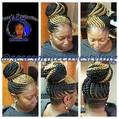 Braids make hair grow. So we think it's thanks to the braids! Certainly the protective hairstyles of this type allow our… Continue Reading → Cornrow Updo Hairstyles, Box Braids Hairstyles For Black Women, Kids Braided Hairstyles, Braids For Black Hair, Cornrows Updo, Ghana Braids Updo, Big Braids, Braids With Beads, Girls Braids