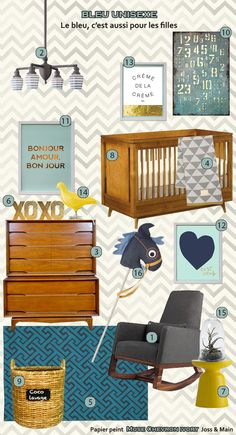 sooooo in love with all this!  especially love crib. could definitely do a french theme