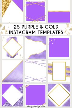 Blank Instagram Post Templates - Purple Theme, Instagram Posts, Instagram Branding Bundle, Social Media Templates, Canva Templates, social media templates, social media marketing, social media tips #purple #gold #instagramtemplates #instagram #instagramposts #igposttemplates #templatesinstagram #instagrambundle #instagramfeed