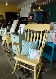 i have this same rocker but it is need of a new face lift . this would look great in  my living room.