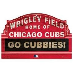 Chicago Cubs MLB Wrigley Wood Sign NEW FREE SHIPPING