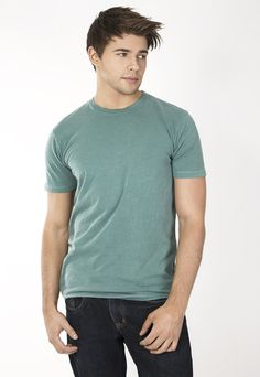 """Men's slub crew. 30's 100% Cotton combed ring spun pre-shrunk reactive garment dyed and enzyme washed for softness. Use Promo Code """" JSFRIENDS """" during purchase and get 20% off. www.jsapparel.net All JS Apparel garments made in USA."""