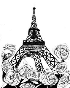 The Eiffel Tower by ~oO-Kai-Oo