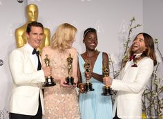 Jared Leto, Lupita Nyong'o, Cate Blanchett and Matthew McConaughey - 86th Annual Academy Awards