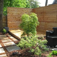 modern screening to divide up your yard