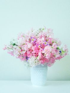 Sweetpea arrangement- beautiful flowers and also my childhood nickname