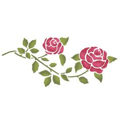 Rose border stencil. Create a cottage style feel to your interior by painting this classic rose border stencil. Easy to use and great results guaranteed. See our other floral stencils at Ideal Stencils.