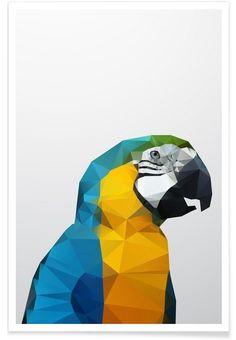 Geo Parrot als Premium Poster von Three Of The Possessed   JUNIQE