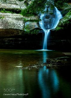 Reflective Waterfall, by Ahmad Kamal...