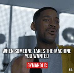 gymaaholic:  When Someone Takes The Machine You WantedOh man, that ruins my workout.http://www.gymaholic.co
