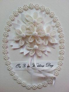 웨딩카드 ~!클레어 선생님께서 만드신 순백색의 화이트와 제가 좋아하는 보라색계열로 하나 더 만들어봤어...