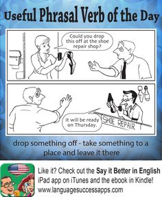 Useful Phrasal Verb - to drop something off  #ESL #ELL