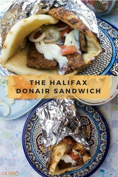 The east coast Halifax Donair specialty is something like a gyro, but all beef, no lamb. Rather than a traditional tzatziki sauce, donairs use donair sauce. Sauce Recipes, Meat Recipes, Real Food Recipes, Food Processor Recipes, Cooking Recipes, Recipies, Healthy Cooking, Delicious Recipes, Donair Meat Recipe