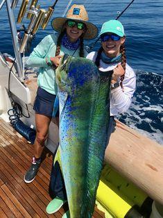 4f435197890c The Gale Force Fishing Twins with a massive mahi mahi!  mahi  girls