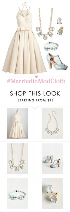 """""""Genuine Gentility Dress in Buttercream"""" by modcloth ❤ liked on Polyvore featuring But Another Innocent Tale"""