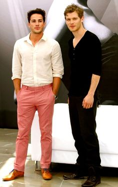 TVD - The Vampire Diaries.  Dare I say it?  Trevino is perhaps the only man hot enough to work those pink pants!  @Karla Crescioni