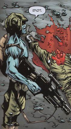 Rogue Trooper - Last Man Standing 2000ad Comic, Starship Troopers, Sci Fi Comics, Judge Dredd, Classic Comics, Space Marine, Sci Fi Art, Comic Art, Comic Books
