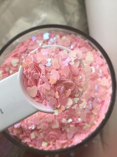 Glitter Hearts, Pink Glitter, Holographic Glitter, Slime, Kylie Jenner, Baby Pink Aesthetic, Imagenes My Little Pony, Loose Glitter, Photo Makeup