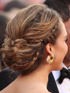 smaller braids in updo