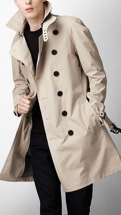 Burberry Sport Mid Length Nylon Trench Coat