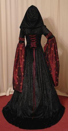 medieval renaissance VAMPIRE HALLOWEEN wedding by camelotcostumes, $270.00