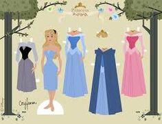 Resultado de imagen para muñecas para vestir princesas