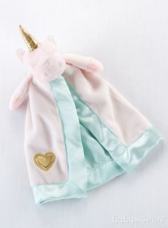 Treat your little one to the soft and soothing Unicorn Plush Rattle Lovie from Baby Aspen. Designed with all the wonder of a unicorn, it features a satin-trimmed lovie for security and a golden horn and rattle for fun. Newborn Baby Gifts, Baby Girl Gifts, Baby Girls, Baby Aspen, Baby Unicorn, Unicorn Birthday, Lovey Blanket, Baby Gift Sets, Baby Store