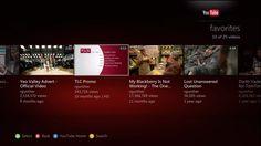 xbox-update-youtube-favorites Ui Ux Design, One Design, Graphic Design, Metro Style, Digital Tv, Design Language, Mobile Ui, Interactive Design, Smart Tv