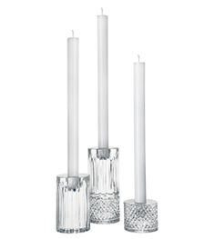 Shop for Saint Louis Tommy Contemporary Candlestick Set of 3 at Kneen & Co, the destination for luxury silver, crystal and tableware. Contemporary Candles, Contemporary Interior Design, Candles And Candleholders, Candlesticks, Candelabra, Decorative Accessories, Home Accessories, Saint Louis Crystal, Handmade Candles