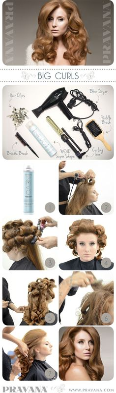 PRAVANA Nevo big curls style how-to