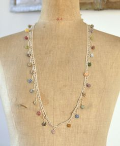 Sophie Digard / crochet linen necklace