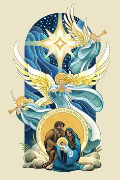 Nativity by WesTalbott on DeviantArt Religious Pictures, Jesus Pictures, Catholic Art, Religious Art, Nativity Painting, Bijoux Art Deco, Blessed Mother Mary, Biblical Art, Jesus Art