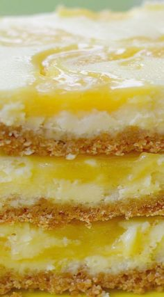 Lemon Curd Cheesecake Bars