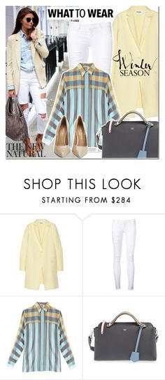 """Winter Pastels"" by elena-starling ❤ liked on Polyvore featuring Jil Sander, Frame Denim, Marco de Vincenzo, Fendi, Kurt Geiger and fallwinter2015"