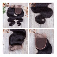7A Grade Virgin Human Hair Body Wave Lace Closure 4x4 inches 120% Density Natural Baby Hair Swiss Lace Medium Brown Lace Color Bleached Knots WhatsApp number : +86-18661655527 Email:sales4@bolinhair.com