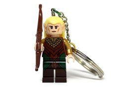 Legolas Keychain, made from New Hobbit LEGO (r) Minifigure