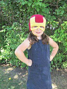 Maria PedersenCrochet Super heros · Iron Man Crochet Mask Hat by  TheCrazyCuteShop on Etsy Learn To Crochet f4972efdb86