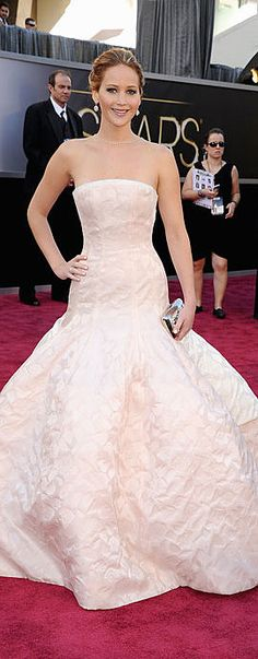 Jennifer Lawrence at the 2013 Academy Awards - Christian Dior Haute Couture