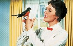 Julie Andrews as Mary Poppins. Her very first film and she received an Academy Award for Best Actress. <--It was well deserved. She's still beautiful but look how beautiful she was in Mary Poppins. Mary Poppins 1964, Julie Andrews Mary Poppins, My Fair Lady, Old Movies, Great Movies, Cinema Tv, Disney Films, Walt Disney, Disney Magic