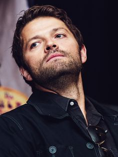Pinning this because I am in a Misha Collins kind of mood. Also I don't think I've seen a picture of him looking this serious