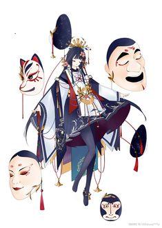 《阴阳师》手游同人社区_阴阳师同人美图_同人小说|美文_同人漫画|cos|壁纸_《阴阳师》手游官网_网易和风匠心巨制,开启唯美奇幻之旅 Girls Characters, Manga Characters, Fantasy Characters, Character Concept, Character Art, Concept Art, Anime Ninja, Anime Outfits, Character Design Inspiration
