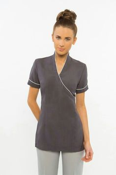 We create & supply elegant, comfortable spa uniforms and medical scrubs for businesses in Australia. Find the perfect uniform design to add class & style to your spa's presetation. Salon Uniform, Spa Uniform, Hotel Uniform, Maid Uniform, Medical Uniforms, Work Uniforms, Beauty Uniforms, Stylish Scrubs, Scrubs Outfit